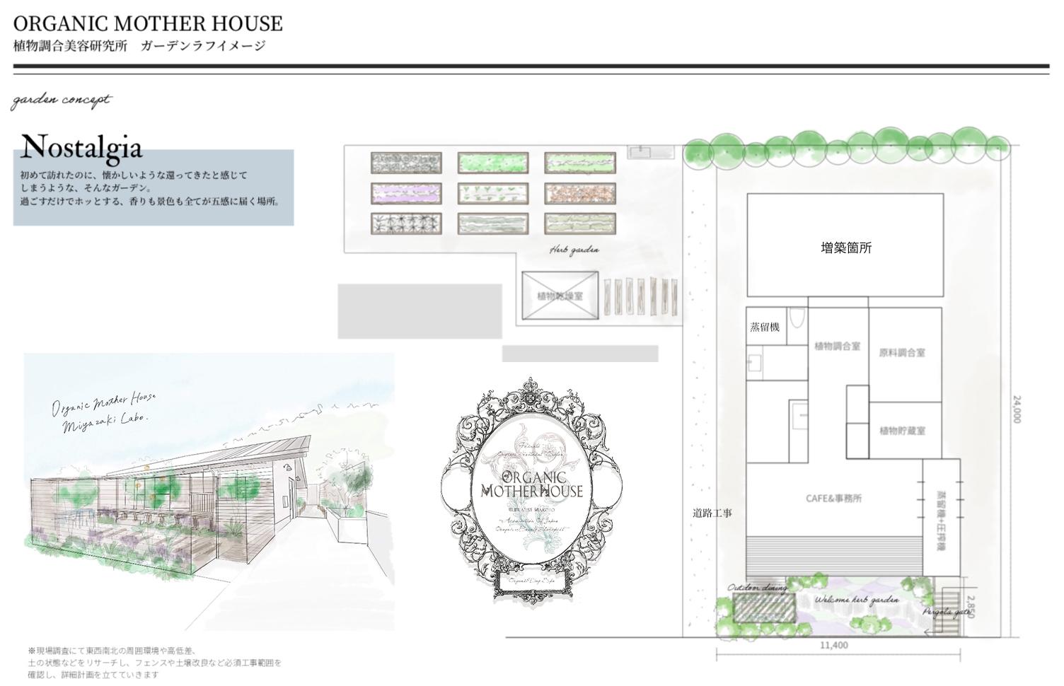 完成予想図 ORGANIC MOTHER HOUSE〈植物調合美容研究所〉増築のコピー